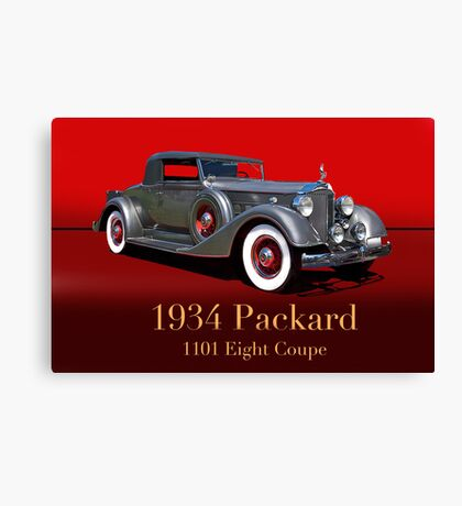 1934 Packard 1101 Eight Coupe w/ID Canvas Print