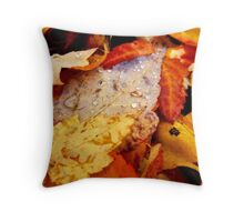 autumns colorful drops~ Throw Pillow