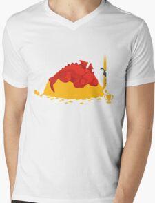 Sleeping Dragon Mens V-Neck T-Shirt