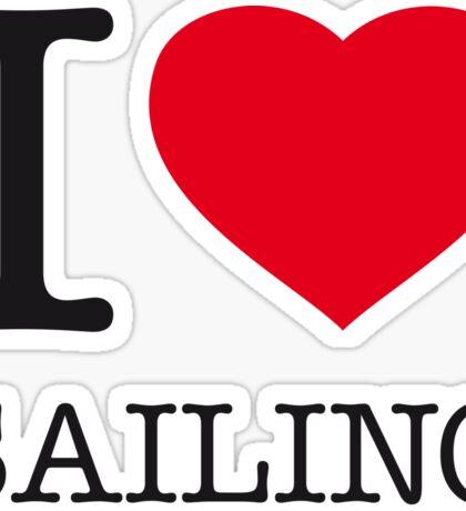 I ♥ SAILING Sticker