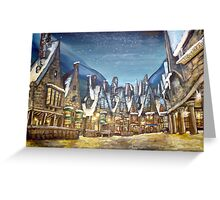 Wintry Hogsmeade :) Greeting Card