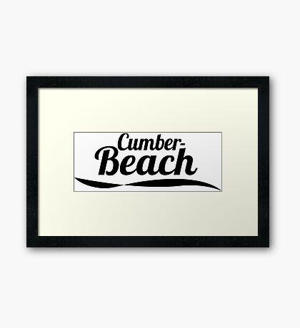 Cumber Beach Framed Print