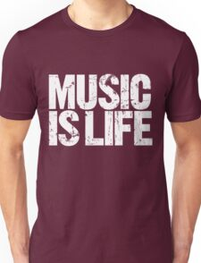 Music is Life (white) Unisex T-Shirt