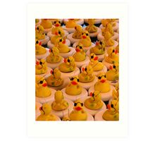 Lots Of Yellow Rubber Ducks With Sunglasses Art Print