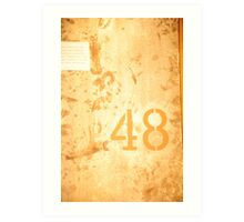 no. 48 urban backstreet Art Print