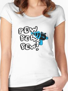 Pew pew pew! Women's Fitted Scoop T-Shirt
