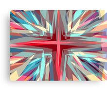 Religious cross starburst pattern Canvas Print