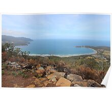 Pirates Bay - from the burnt Eaglehawk lookout Poster