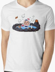 Bomberman Mens V-Neck T-Shirt