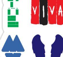 Coldplay album logos Sticker