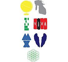 Coldplay album logos Photographic Print