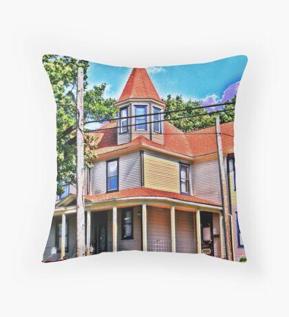 Aqua Copper Throw Pillow