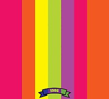 Bright Color Stripe Pattern by thejoyker1986