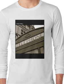 British black and white Phone box Long Sleeve T-Shirt