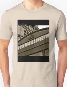 British black and white Phone box Unisex T-Shirt