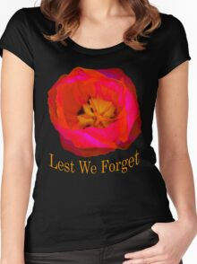 Lest We Forget, Poppy Women's Fitted Scoop T-Shirt