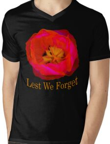 Lest We Forget, Poppy Mens V-Neck T-Shirt