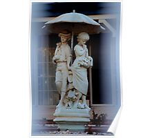 Front yard water fountain Sculpture Poster