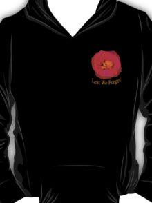 """Lest We Forget - """"Pocket"""" Badge T-Shirt"""