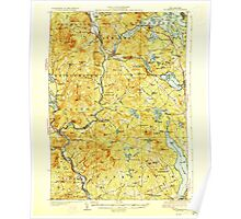 USGS TOPO Map New Hampshire NH Holderness 330093 1927 62500 Poster