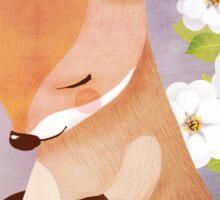 Bashful Wallaby and White Rose Sticker