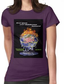 Global warming shirt from D.W.Arts Womens Fitted T-Shirt
