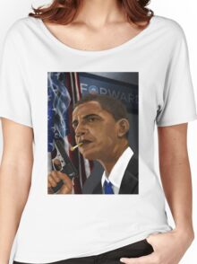 Barack Obama: Commander in Chief of Coolness & Badassery Women's Relaxed Fit T-Shirt