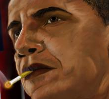 Barack Obama: Commander in Chief of Coolness & Badassery Sticker