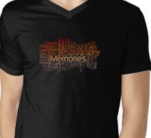 Photography Word Art 7 Mens V-Neck T-Shirt