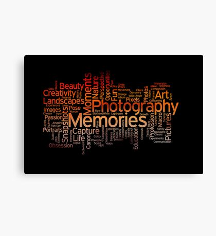 Photography Word Art 7 Canvas Print