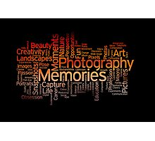 Photography Word Art 7 Photographic Print