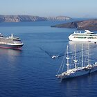 Cruise Liners at Anchor by Francis Drake