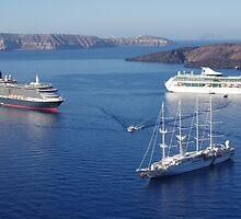 Cruise Liners at Anchor by Francis Drake