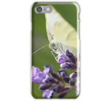 cabbage butterfly on lavender iPhone Case/Skin