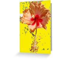 Happy Hibiscus _Yellow Greeting Card