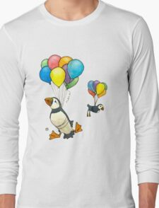 The Puffins Are Getting Carried Away Long Sleeve T-Shirt
