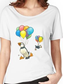 The Puffins Are Getting Carried Away Women's Relaxed Fit T-Shirt