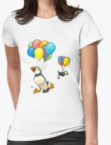 The Puffins Are Getting Carried Away Womens Fitted T-Shirt