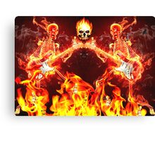 The fires of hell  Canvas Print