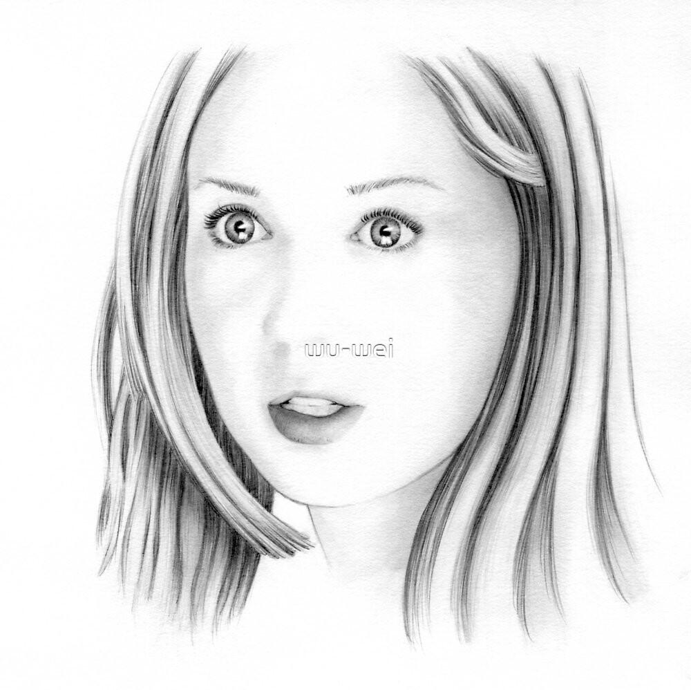 Karen Gillan portrait by wu-wei