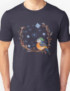 Watercolor Winter Bird T-Shirt
