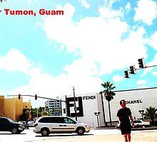 Lower Tumon, Guam postcard by Louis Delos Angeles