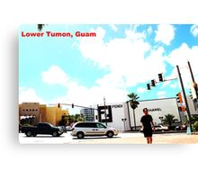 Lower Tumon, Guam postcard Canvas Print