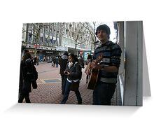 Birmingham Busker Greeting Card