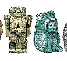Aztec Gods and Goddesses by Hannah-Hitchman