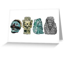 Aztec Gods and Goddesses Greeting Card