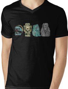 Aztec Gods and Goddesses Mens V-Neck T-Shirt