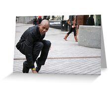 Dancing street preacher Greeting Card