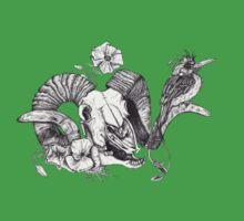 The Ram skull and bird One Piece - Short Sleeve