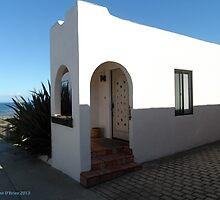 Doorways of Pacific Grove, California—White Portal by Marielle O'Brien